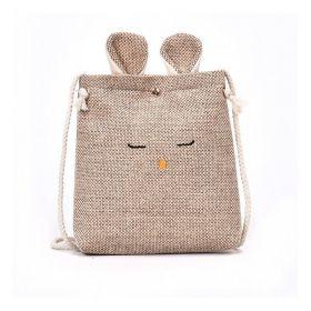 Textilní crossbody kabelka králík Hnědý