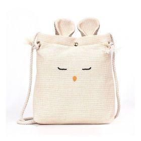 Textilní crossbody kabelka králík Krémový