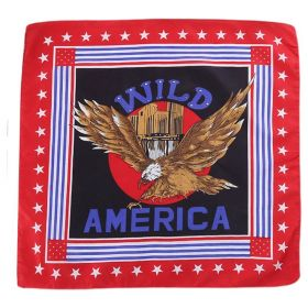 Bavlněný šátek Americký orel červený