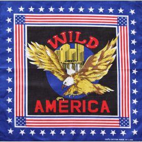 Bavlněný šátek Americký orel modrý