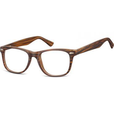 Brýle bez dioptrii wayfarer Timber - hnědé
