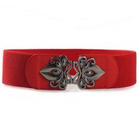 Dámský pásek na šaty s přezkou Fless Červený