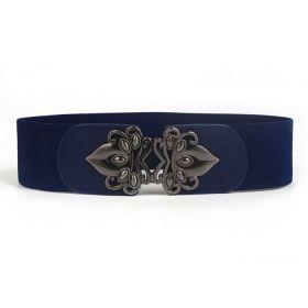 Dámský pásek na šaty s přezkou Fless Tmavě modrý