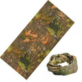 Multifunkční šatka Podzimní kamufláž 48x25cm