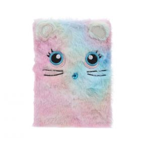Plyšový zápisník deník A5 Multicolor kočička