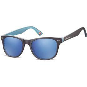 Montana sluneční brýle Wayfarer modré zrcadlové MS10C