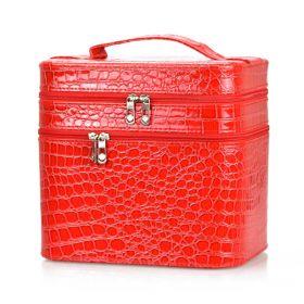 BMD kosmetický kufřík 3 vrstvý Červený krokodýl