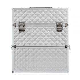 DIAMOND dvoupatrový kosmetický kufr na Laky Silver