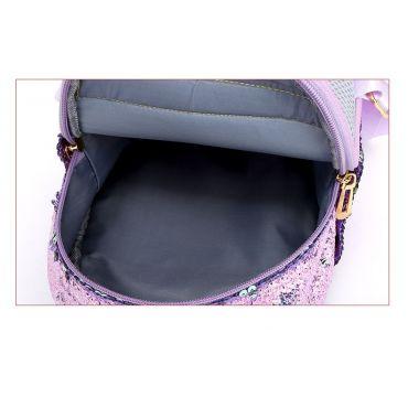Flitrový Batůžek Jednorožec Černý