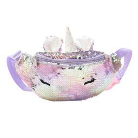 Flitrová ledvinka Jednorožec Multikolor Violet