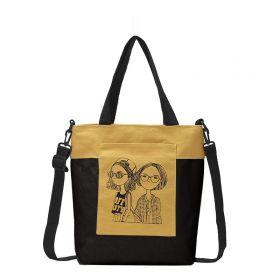 Dámská plátěná kabelka Fashion Nerds Hořčicová