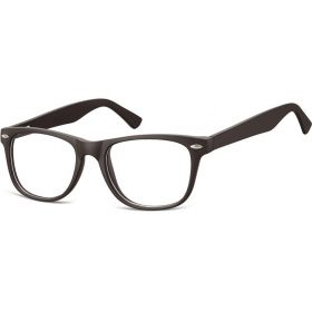 Brýle bez dioptrii wayfarer Flexi Černé
