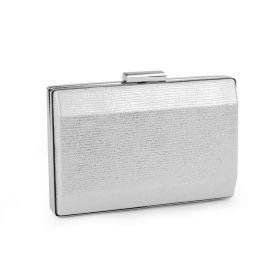 Metalické elegantní psaníčko Stříbrné