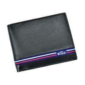 Always Wild pánská kožená peněženka Blue Line Černá
