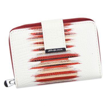 Jennifer Jones dámská kožená peněženka Bílá
