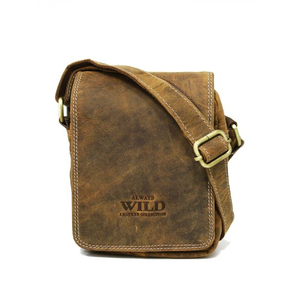 Always Wild pánská kožená taška Leo TAN