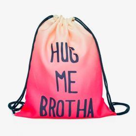Plátěný vak s 3D potiskem Hug Me Brother
