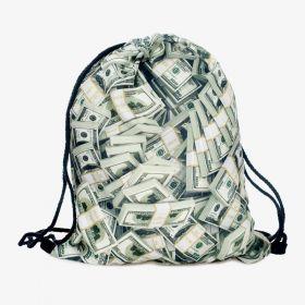 Plátěný vak s 3D potiskem Money Money