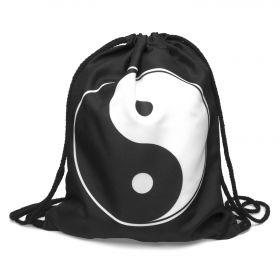 Plátěný vak s 3D potiskem Yin Yang