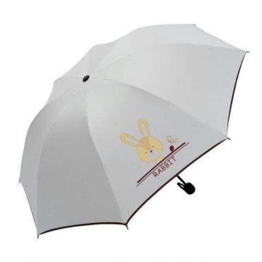 Dámský skládací deštník Bílý Králiček