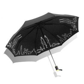 Dámský skládací deštník Černé město