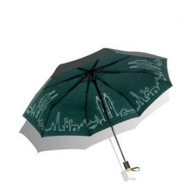 Dámský skládací deštník  Zelené město