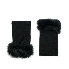 Bella dámské Krátké palčáky s kožešinou Černé