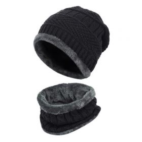 Zimní set 2v1 nákrčník a čepice Černý