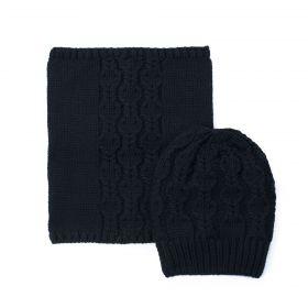 Unisex set čepice a nákrčník Zamor Černý