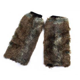 Kožešinové návleky na boty Yeti state 40cm Hnědé