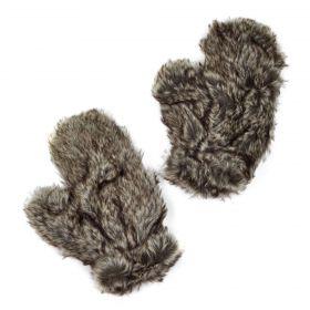 ArtOfPolo dámské chlupaté rukavice Nuuk Šedé