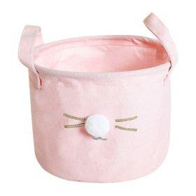 Textilní koš na drobné předměty Králiček růžový