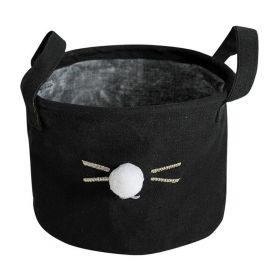 Textilní koš na drobné předměty Králiček černý