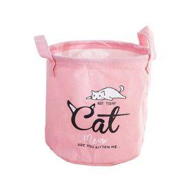 Textilní koš na drobné předměty CAT růžový