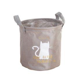Textilní koš na drobné předměty CAT šedý