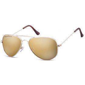 Montana sluneční brýle pilotky Hnědé zrcadlovky - zlatý rám