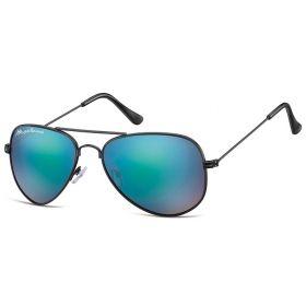 Montana sluneční brýle pilotky Modré zrcadlovky - černý rám