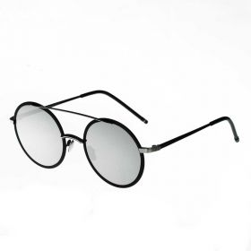 COTE Okrouhlé sluneční brýle Leon Stříbrné zrcadlovky