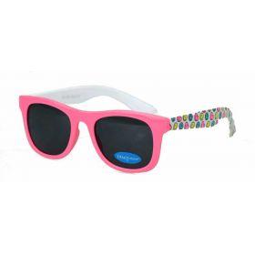 Dino Junior dětské sluneční brýle Wayfarer - Růžové Emoji
