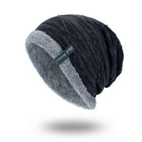 Black human pánská zimní čepice Light Černá