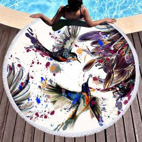 Kruhová plážová osuška Kolibřík