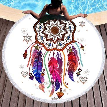 Kruhová plážová osuška Lapač snů