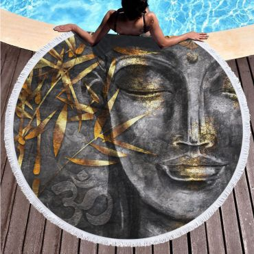 Kruhová plážová osuška Bohyně Egyptu