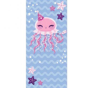 Plážová osuška 150x70cm Růžová chobotnice