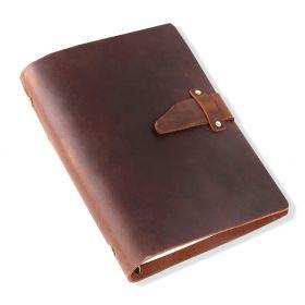 Luxusní kožený Zápisník - Diář A5 Vinage Hnědý