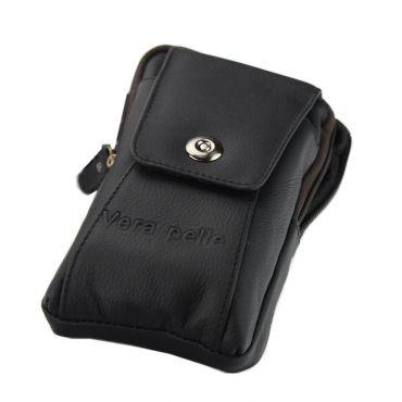 Gregorio Pánská kožená taška na opasek Černá