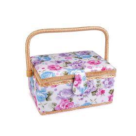 Čalouněný Košík na šicí potřeby Růže