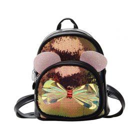 Dívčí menší batůžek s flitry Kočička s mašlí