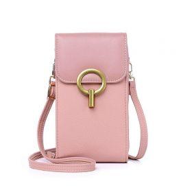 Dámská kabelka na mobil Růžová