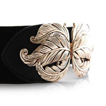 Dámský strečový pásek na šaty Klára Černý